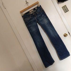 BKE Stella Boot Jeans 25R  25 Lowrise Distressed